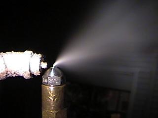 Closeup of Hago Nozzle NUC in action